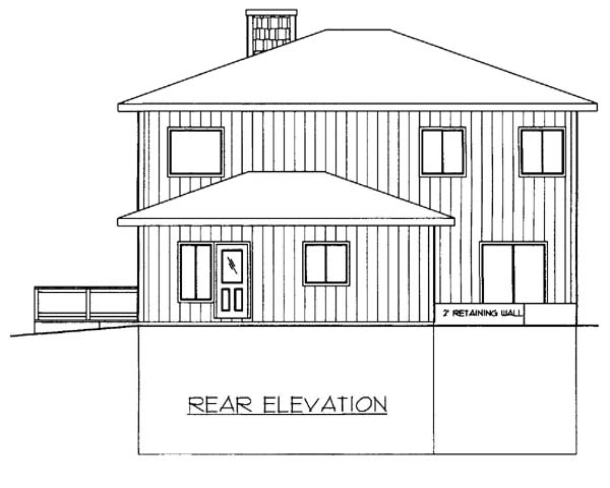 House Plan 86550 Rear Elevation