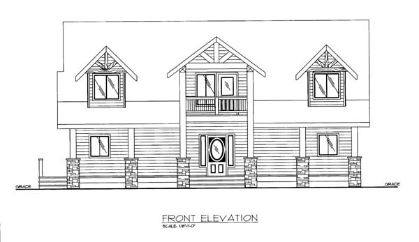 House Plan 86551 Elevation
