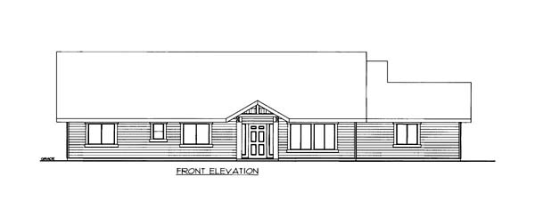 House Plan 86552 Elevation