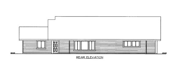 House Plan 86552 Rear Elevation