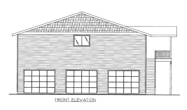 Garage Plan 86554 Elevation