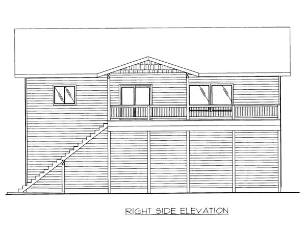 5 Car Garage Apartment Plan 86554 with 2 Beds, 3 Baths Picture 2