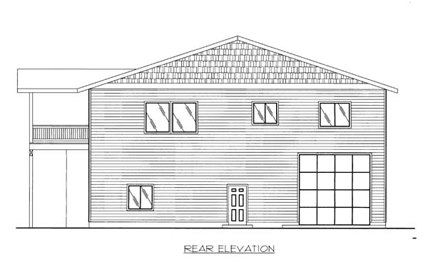 Garage Plan 86554 Rear Elevation