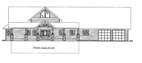 House Plan 86555 | Style Plan with 2847 Sq Ft, 3 Bedrooms, 4 Bathrooms, 2 Car Garage Elevation
