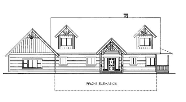 House Plan 86556 Elevation