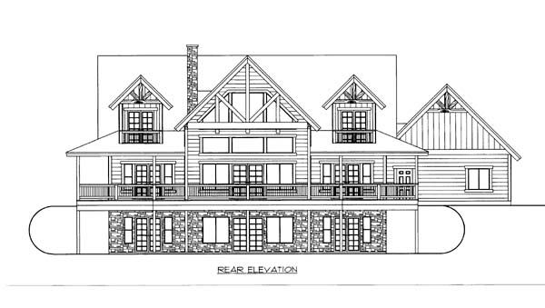 House Plan 86556 Rear Elevation