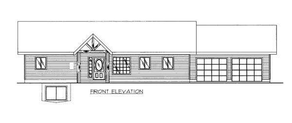 House Plan 86557 Elevation