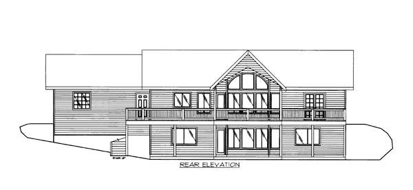 House Plan 86557 Rear Elevation