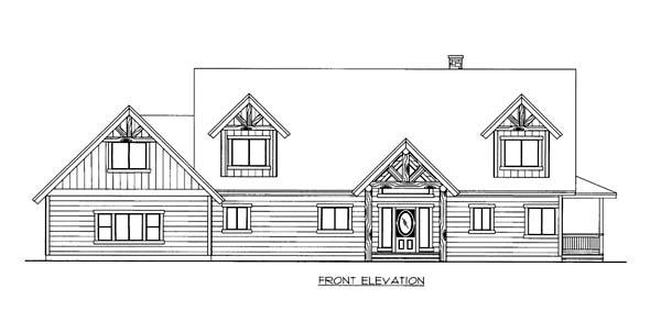 House Plan 86559 Elevation