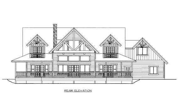 House Plan 86559 Rear Elevation