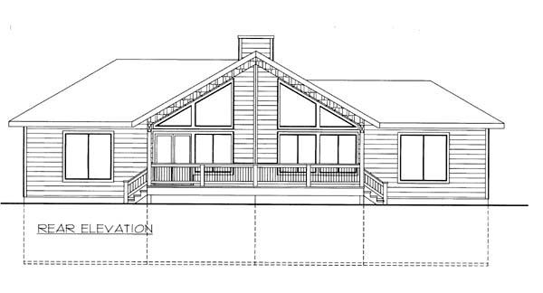 House Plan 86560 Rear Elevation