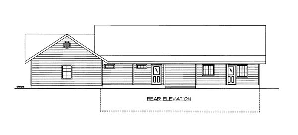 House Plan 86561 Rear Elevation