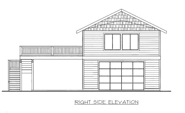 3 Car Garage Apartment Plan 86563 with 2 Beds, 1 Baths Picture 1