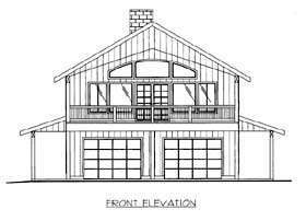 House Plan 86564 with 2 Beds, 3 Baths, 2 Car Garage Elevation
