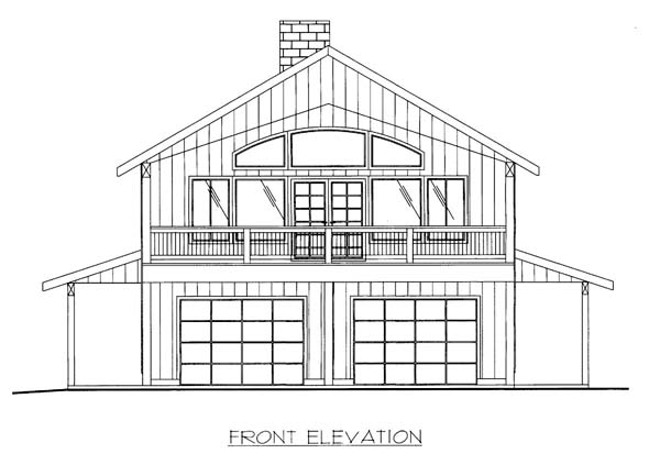 Elevation of Plan 86564