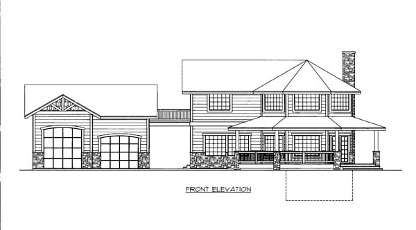 House Plan 86565 Elevation