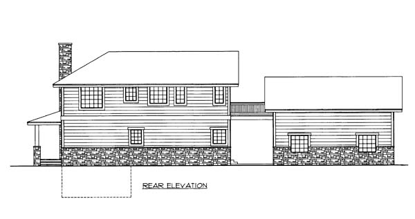 House Plan 86565 Rear Elevation