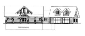 House Plan 86566 Elevation