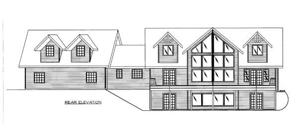 House Plan 86566 Rear Elevation