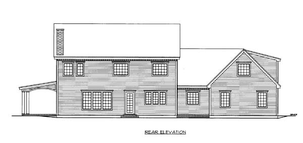 Traditional House Plan 86567 Rear Elevation