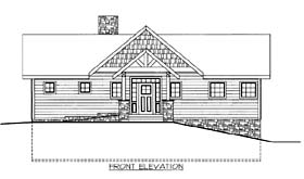 House Plan 86569 | Style Plan with 1951 Sq Ft, 3 Bedrooms, 3 Bathrooms, 2 Car Garage Elevation