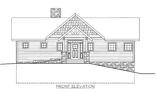 House Plan 86569 with 3 Beds, 3 Baths, 2 Car Garage Elevation