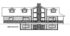 House Plan 86570 with 5 Beds, 4 Baths, 2 Car Garage Elevation