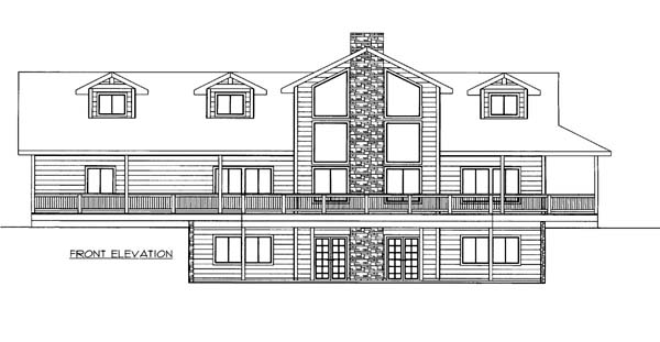 House Plan 86570 Elevation