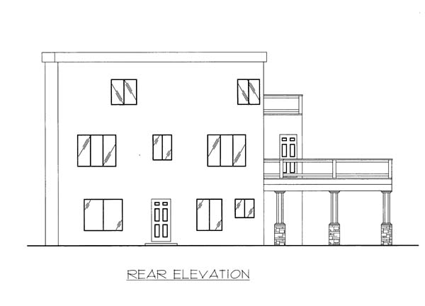 Southwest House Plan 86572 Rear Elevation