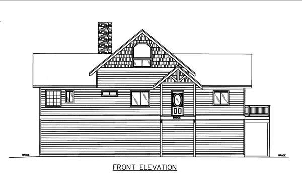 House Plan 86575 Elevation