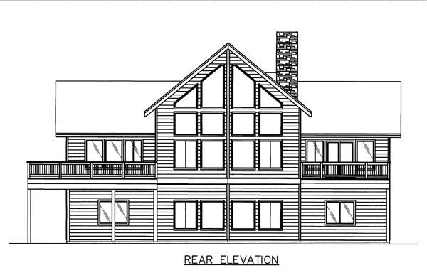 House Plan 86575 Rear Elevation