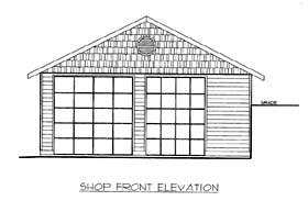 Garage Plan 86576 Elevation