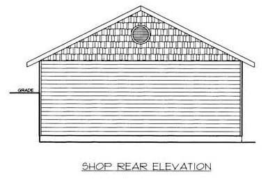 Garage Plan 86576 Rear Elevation