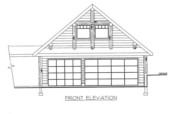 2 Car Garage Plan 86579 Elevation