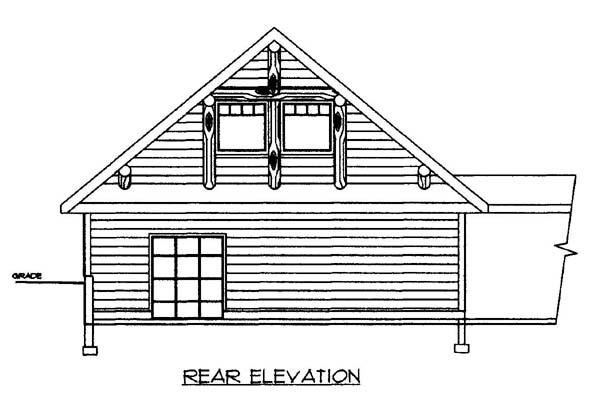 2 Car Garage Plan 86579 Rear Elevation