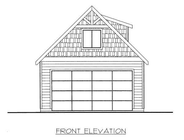 2 Car Garage Plan 86580 Front Elevation