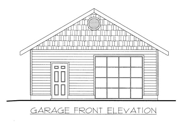 1 Car Garage Plan 86582 Elevation