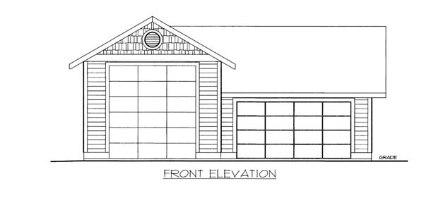 Garage Plan 86585 Elevation