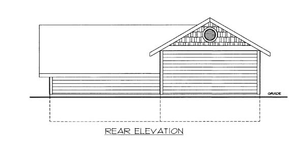 Garage Plan 86585 Rear Elevation
