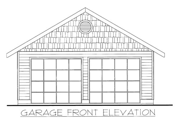 2 Car Garage Plan 86587 Elevation