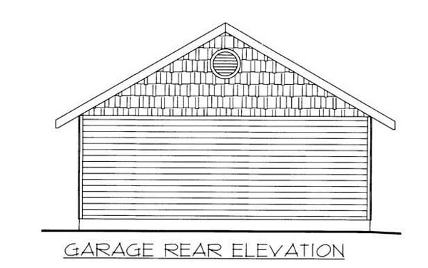 2 Car Garage Plan 86587 Rear Elevation