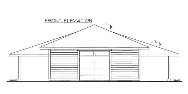 Workshop Plan 86588 Elevation