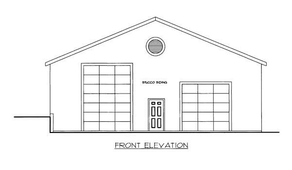 Elevation of Plan 86590
