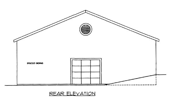 4 Car Garage Plan 86590 Rear Elevation
