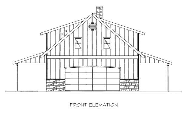 Elevation of Plan 86591