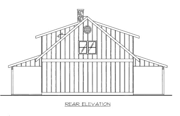 Garage Plan 86591 Rear Elevation