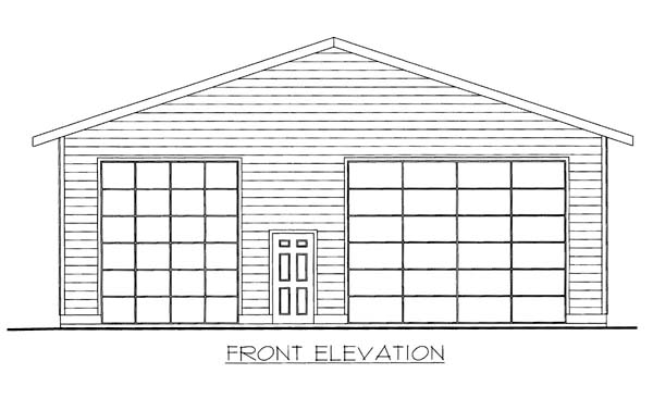 3 Car Garage Plan 86595 , RV Storage Elevation