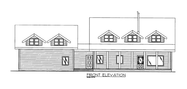 House Plan 86604 Elevation