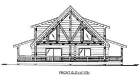 Log House Plan 86605 with 1 Beds, 2 Baths Elevation