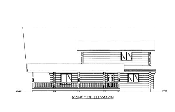 Log House Plan 86605 with 1 Beds, 2 Baths Picture 2
